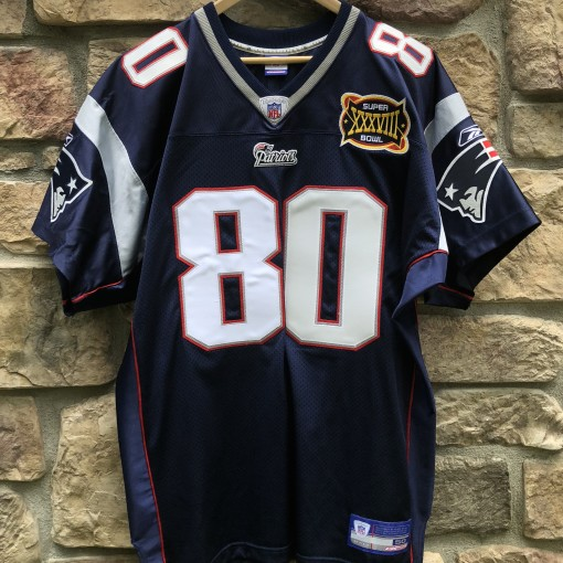 2004 Troy Brown New England Patriots authentic Reebok NFL Jersey super bowl XXXVIII size 50