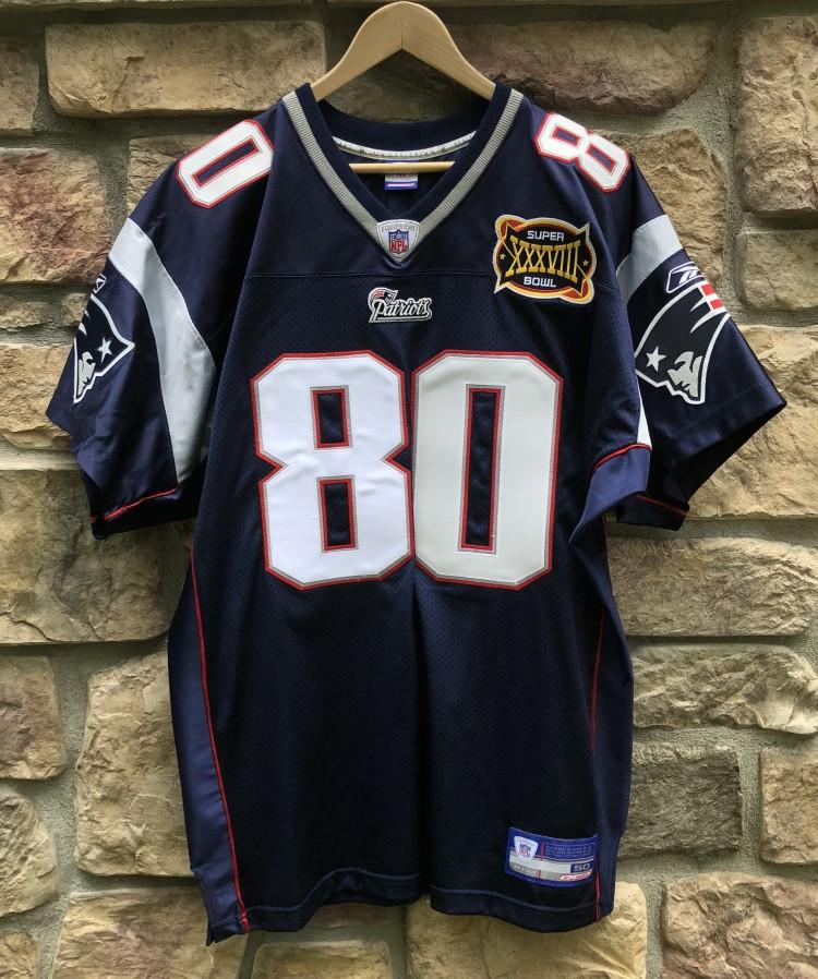 436f66e4 2004 Troy Brown New England Patriots Reebok Authentic Super Bowl XXXVIII  NFL Jersey Size 50