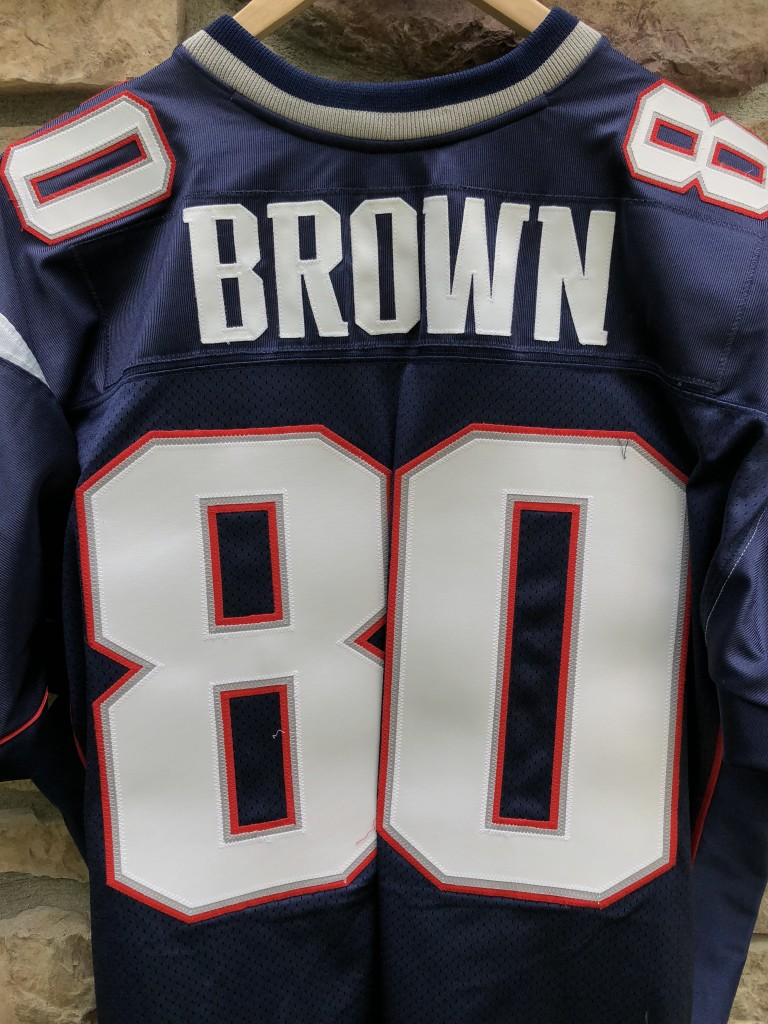 2004 Troy Brown New England Patriots Reebok Authentic Super Bowl