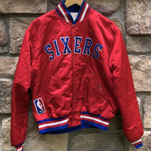 1983 World Champions Philadelphia Sixers Starter Satin NBA Jacket size large vintage custom