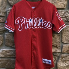 90's Philadelphia Phillies vinage Curt Schilling Majestic Diamond collection authentic MLB jersey size small
