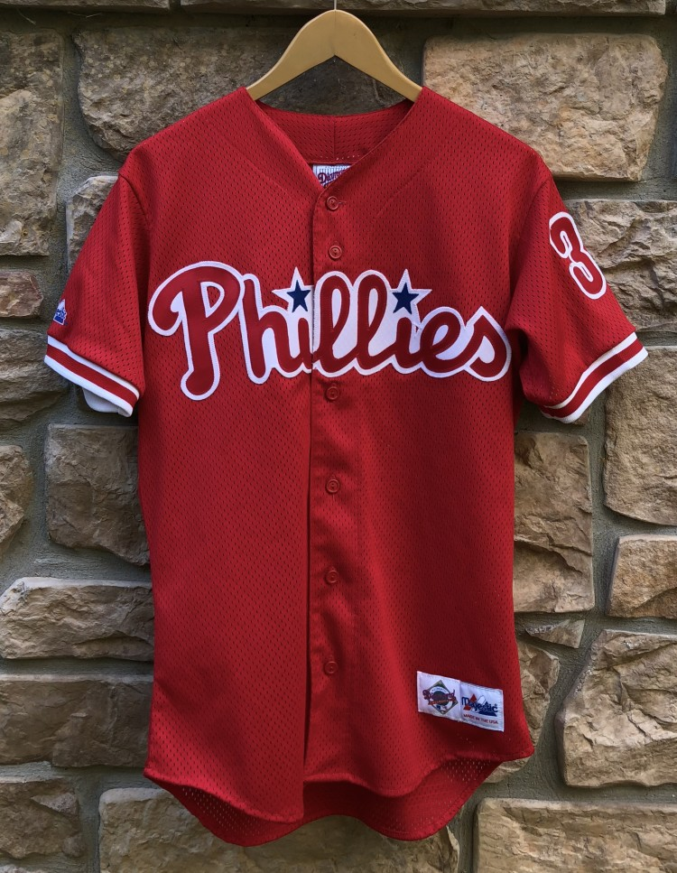 a925a29cf 90 s Philadelphia Phillies vinage Curt Schilling Majestic Diamond  collection authentic MLB jersey size small