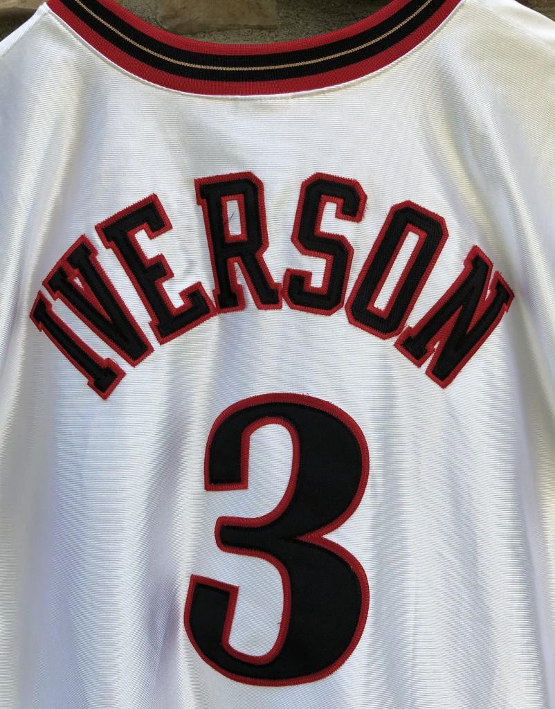 2001 Philadelphia Sixers Allen Iverson Authentic Champion NBA Jersey size  52 XXL 7abbac9d3