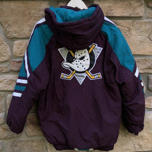 90's Anaheim Mighty Ducks Starter Center Ice Authentic Pullover Jacket size medium