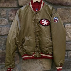 90's San Francisco 49ers Starter Satin Gold vintage jacket size large