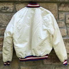 80's Philadelphia Sixers Starter Satin Jacket size Large vintage white