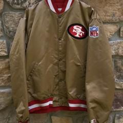 90's San Francisco 49ers Starter Satin gold bomber jacket size XL vintage