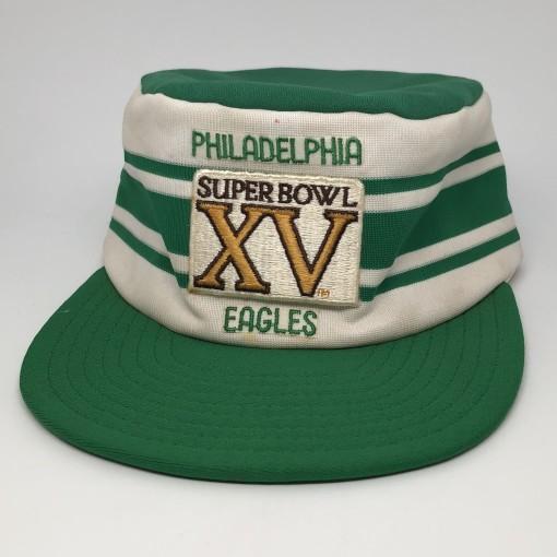 1980 vintage Philadelphia Eagles Super Bowl XV pillbox NFL cap hat
