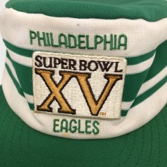 1980 vintage Philadelphia Eagles Super Bowl XV pillbox NFL cap hat