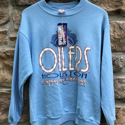 1993 Houston Oilers AFC Central Division Champion Size Medium Vintage Crewneck