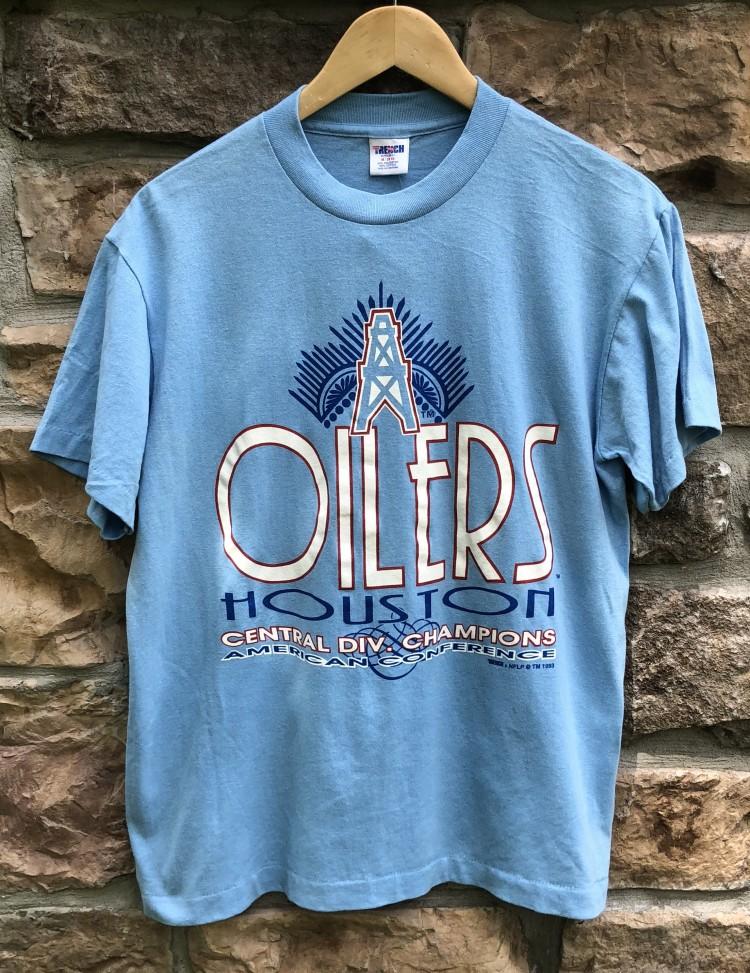 ecdf56180 1993 Houston Oilers AFC Central Division Champion Size Medium Vintage t  shirt