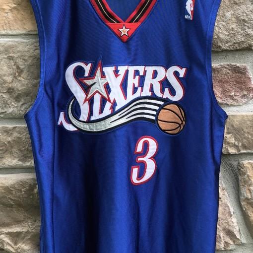 2000 Philadelphia Sixers Allen Iverson Champion Authentic NBA Jersey size 44 large