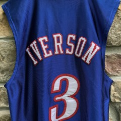 2000 Philadelphia Sixers Allen Iverson Champion Authentic NBA Jersey size 44 large