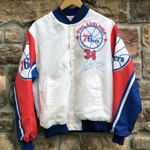 90's Sir Charles Barkley Philadelphia Sixers 76ers Chalkline fanimation Vintage NBA jacket size medium