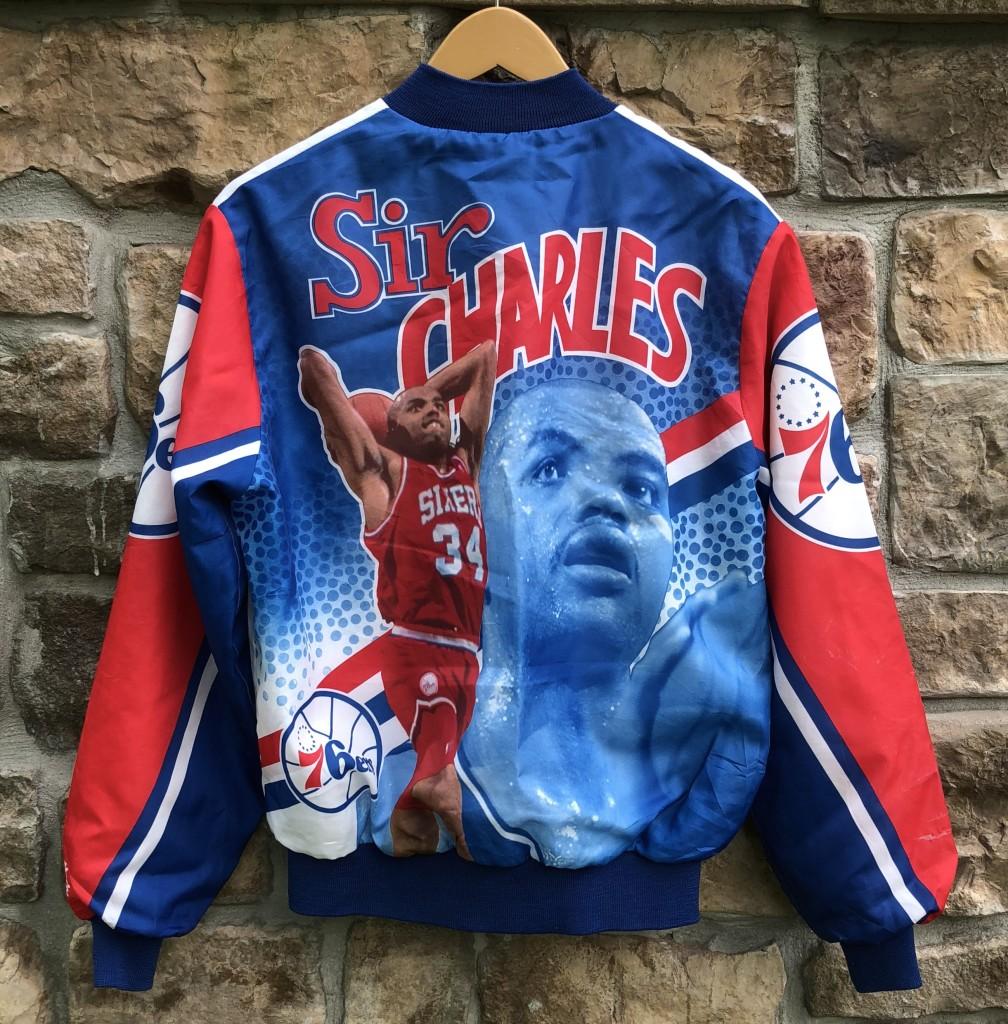 0e0f9fe70 90's Sir Charles Barkley Philadelphia Sixers 76ers Chalkline fanimation Vintage  NBA jacket size medium
