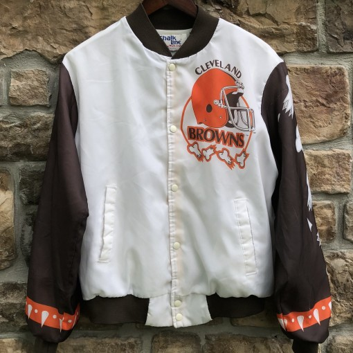 90's Cleveland Browns Chalkline fanimation vintage NFL jacket size medium