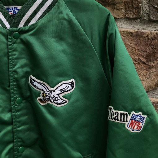 90's Philadelphia Eagles Chalkline satin vintage nfl jacket size XL