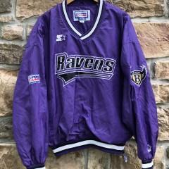 vintage 90's Baltimore Ravens Starter Pullover nfl jacket size large