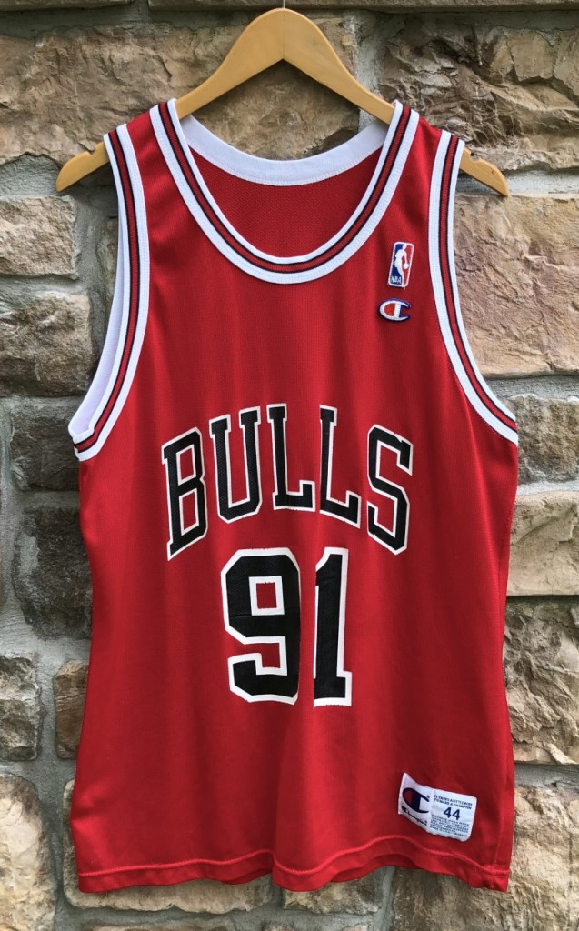huge selection of f9a42 4ed0e 1995 Dennis Rodman Chicago Bulls Champion NBA Jersey Size 44