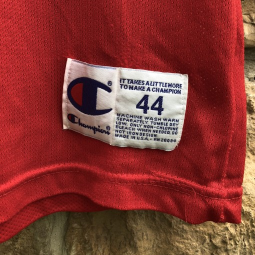 1996 Dennis Rodman Chicago Bulls vintage Champion NBA jersey size 44 large