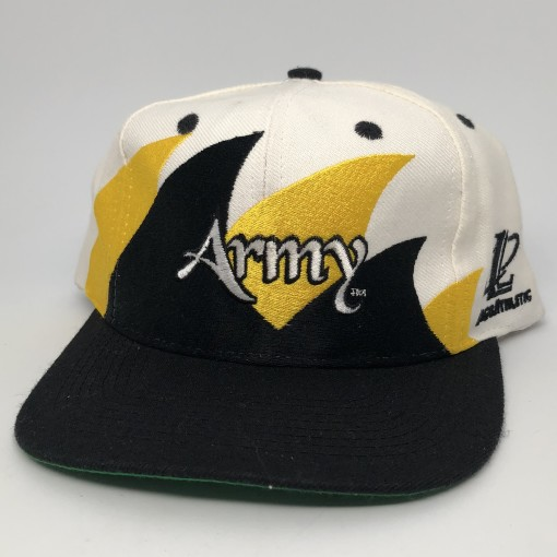 vintage 90's Army Black Knights Double Sharktooth Logo athletic NCAA snapback hat