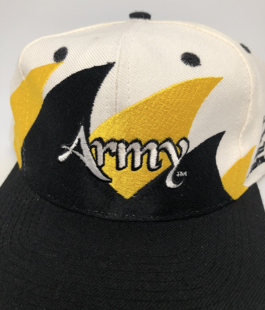 b545062d1c8 vintage 90 s Army Black Knights Double Sharktooth Logo athletic NCAA snapback  hat
