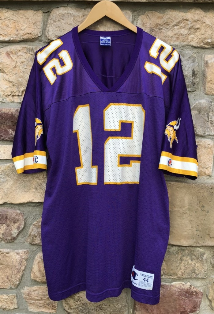 97160a62c 1999 Daunte Culpepper Minnesota Vikings Champion NFL jersey Size 44 Large   12 Rookie