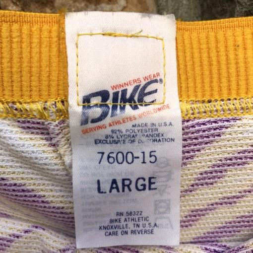 90's Zubaz Bike Shorts La Lakers Minnesota Vikings Size Large vintage