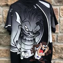 1996 vintage Space Jam Taz Monstars movie t shirt warner bros size large