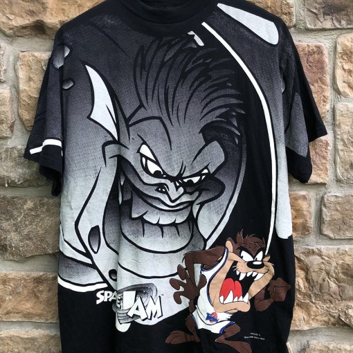 1996 vintage Space Jam Taz Monstars movie t shirt warner bros size large