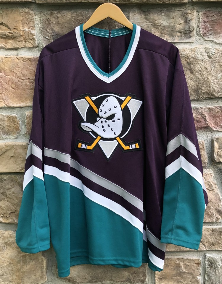 d985124ace9 ... shopping vintage 90s anaheim mighty ducks ccm nhl hockey jersey size xl  69ecf 99460