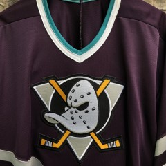 vintage 90's Anaheim Mighty Ducks CCM NHL hockey jersey size XL