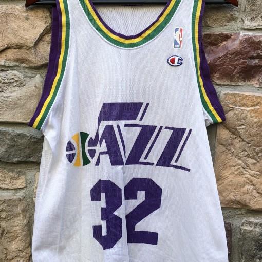 vintage 90's Utah Jazz Karl Malone Champion NBA jersey size small