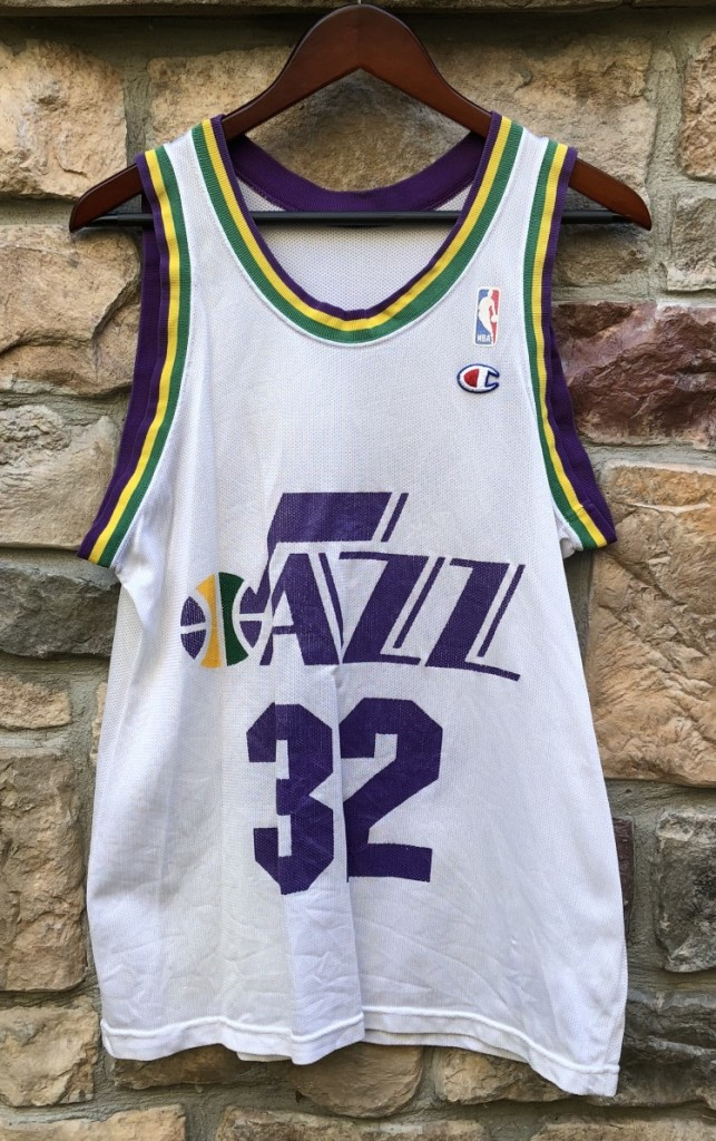 4712a14c7f6 90's Karl Malone Utah Jazz Champion NBA Jersey Size 40 | Rare Vntg
