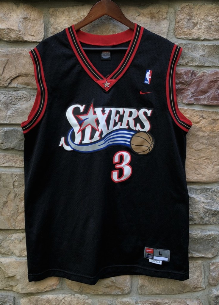 separation shoes 83a08 24ed4 2001 Allen Iverson Philadelphia 76ers Nike Swingman NBA Jersey Size Large