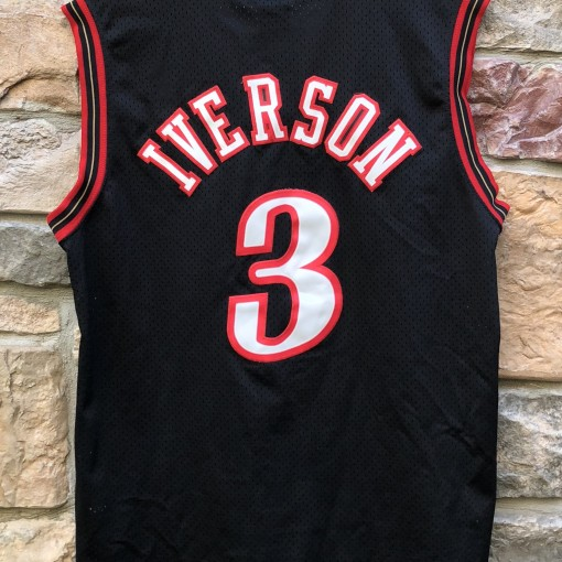 2001 allen iverson philadelphia sixers nike swingman nba jersey size large