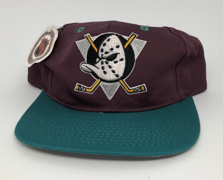 90 S Anaheim Mighty Ducks Ajd Nhl Snapback Hat Rare Vntg