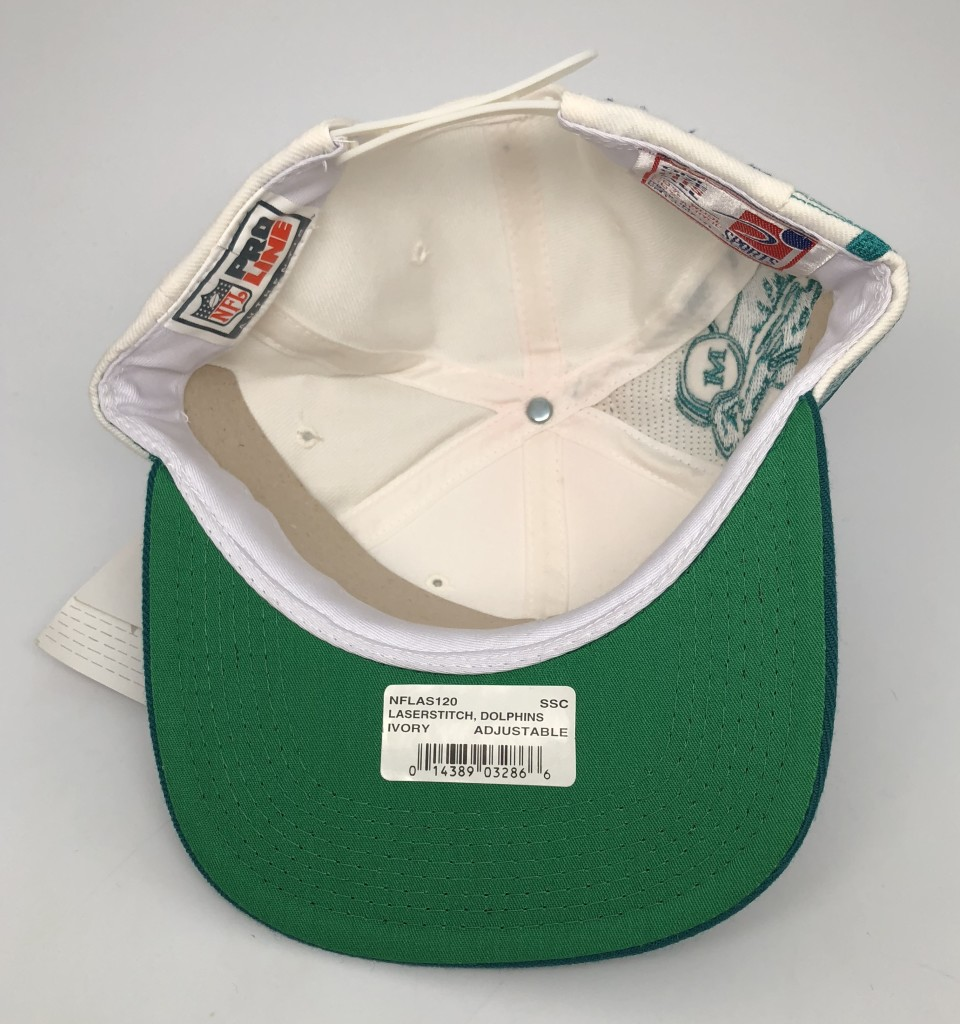 90 s vintage Miami Dolphins Sports specialties laser dome NFL snapback hat  OG b8f95b113