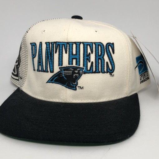 90's vintage Carolina Panthers Sports specialties laser dome NFL snapback hat OG
