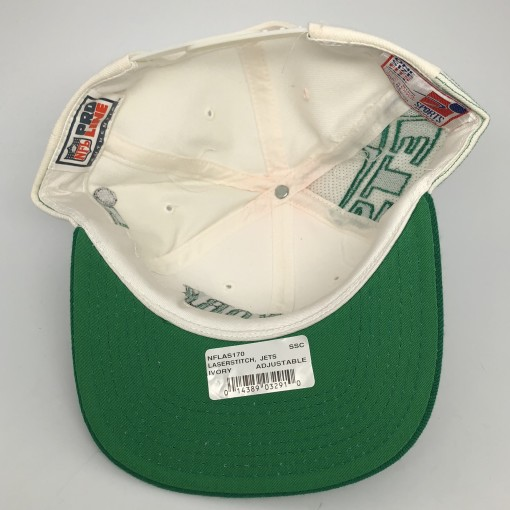 90's New York Jets Sports Specialties Laser dome NFL pro line vintage snapback hat OG