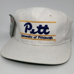 90's Pitt University of pittsburgh panthers The Game vintage snapback hat split bar