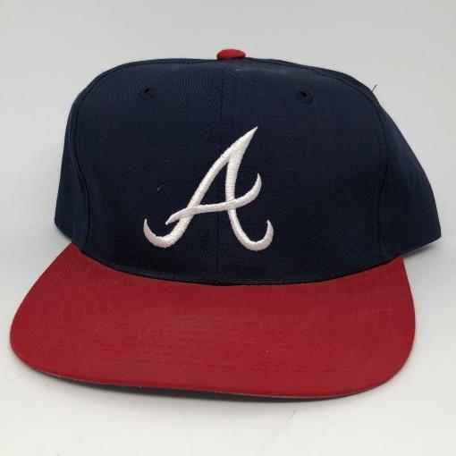 90's Atlanta Braves deadstock vintage plain logo G cap mlb snapback hat