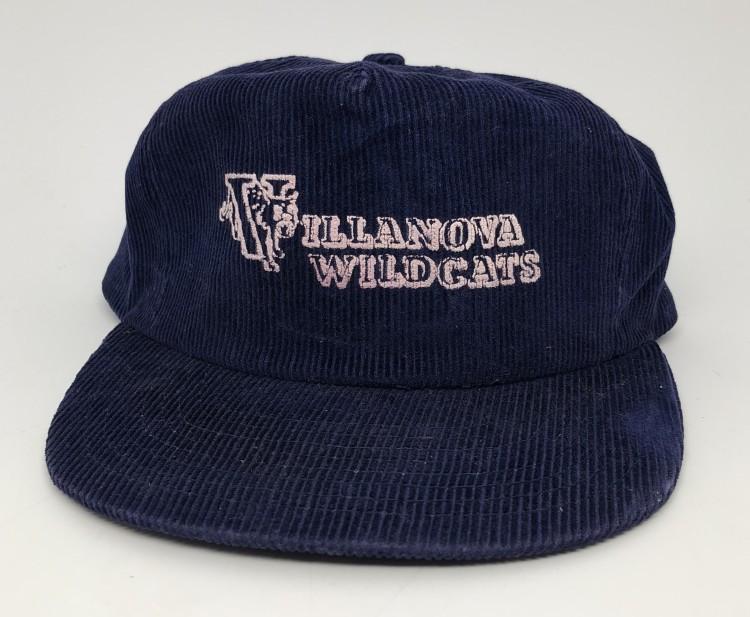 80 s Villanova Wildcats Corduroy NCAA Snapback Hat  667895543ea2