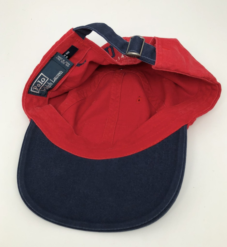 90 s Polo Ralph Lauren USA Flag Red Blue Hat  0881f1252783