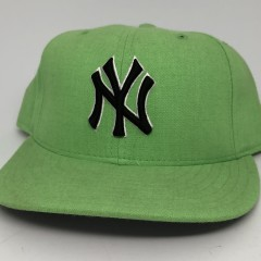 90's New York Yankees New Era lime green vintage MLB fitted hat