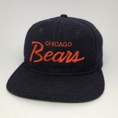 80's Chicago Bears Sports Specialties vintage script snapback hat clark griswold family vacation hat