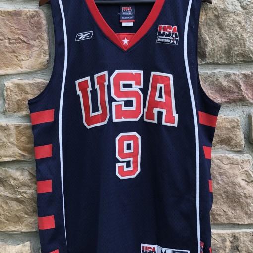 2004 LeBron James Team USA Olympic Reebok Swingman Jersey size medium vintage