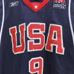 2004 LeBron James Team USA Olympic Reebok Swingman Jersey size medium vintage