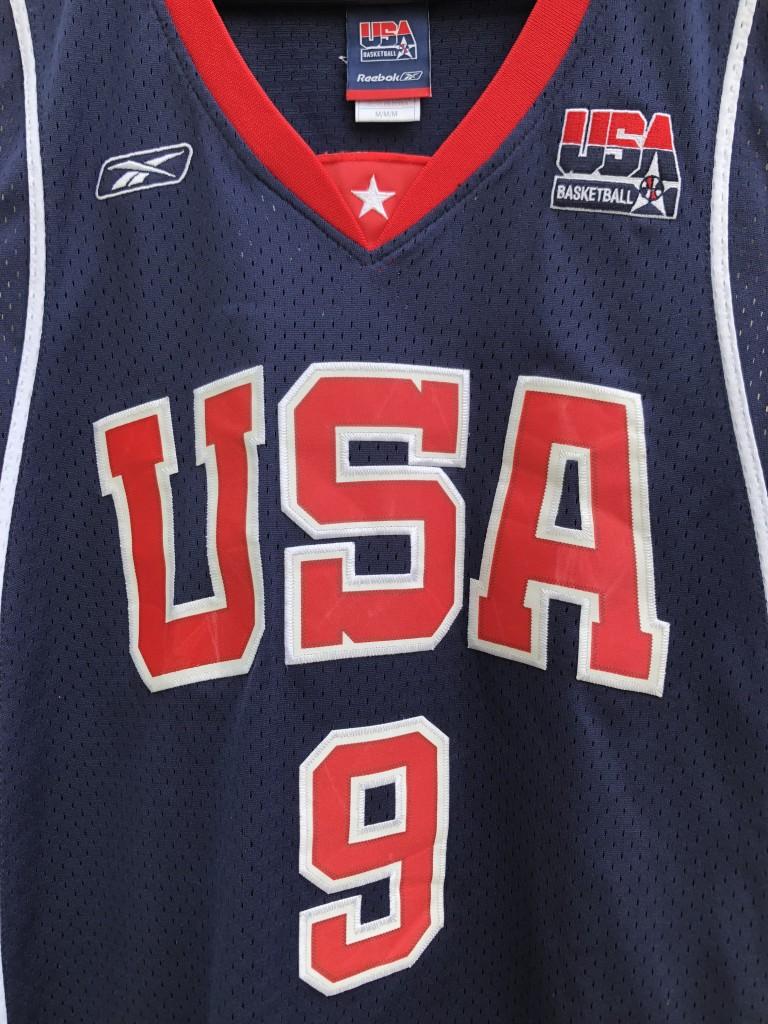 buy online b5145 36931 2004 LeBron James Team USA Reebok Olympic Basketball Jersey Size Medium