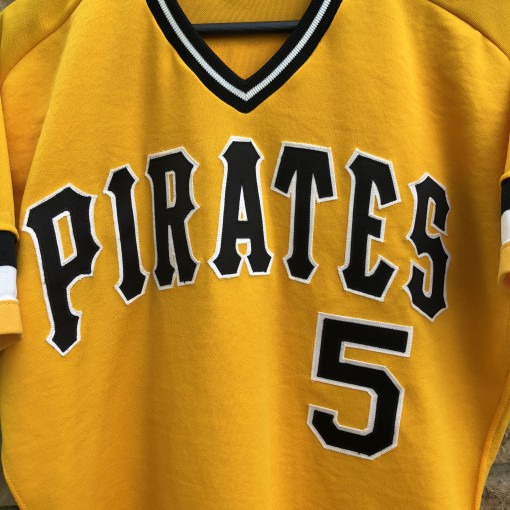 80's Pittsburgh Pirates Bill Madlock vintage rawlings authentic MLB jersey size 42 yellow